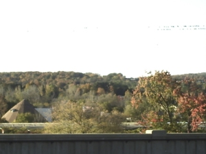 Some more of Central New York's famous fall scenery, this time taken from the bridge near the Thruway entrance.