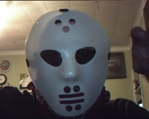 Me dressed up as Jason Voorhees for Halloween.
