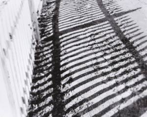 A shadow composition shot of a fence I shot in town.